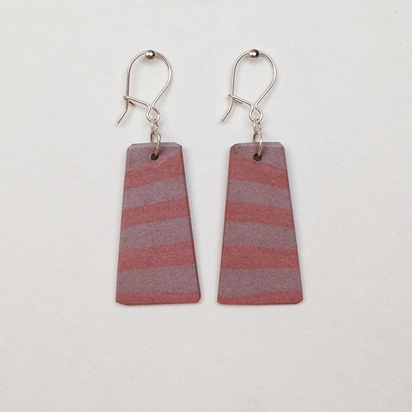 Two pinks Porcelain Earrings